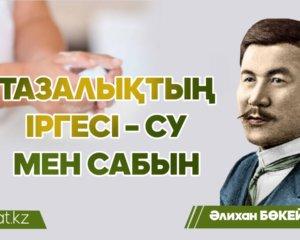 Әлихан Бөкейхан: Тазалықтың іргесі - су мен сабын