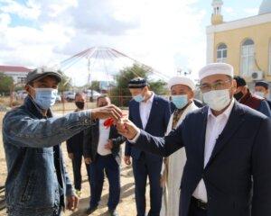 ҚМДБ - 30: Қызылқоға аудандық мешітінің дәретханасы пайдалануға берілді (+ВИДЕО)
