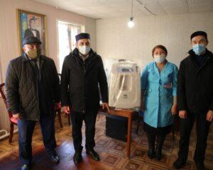 Балқұдық және Сүйіндік ауылдарына оттегі аппараттары табыс етілді