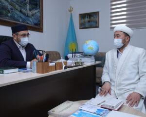 Атырау облысының Бас имамы Әт - Тақуа мешітінің имамын қабылдады