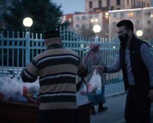 """Рамазан: """"Иманғали"""" мешітінде алғашқы  ауызашар қоржындары таратылды (+ВИДЕО)"""