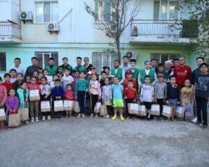Атырау: облыс мешіттерінде 700 балаға тәттілер таратылды (+ ФОТО)